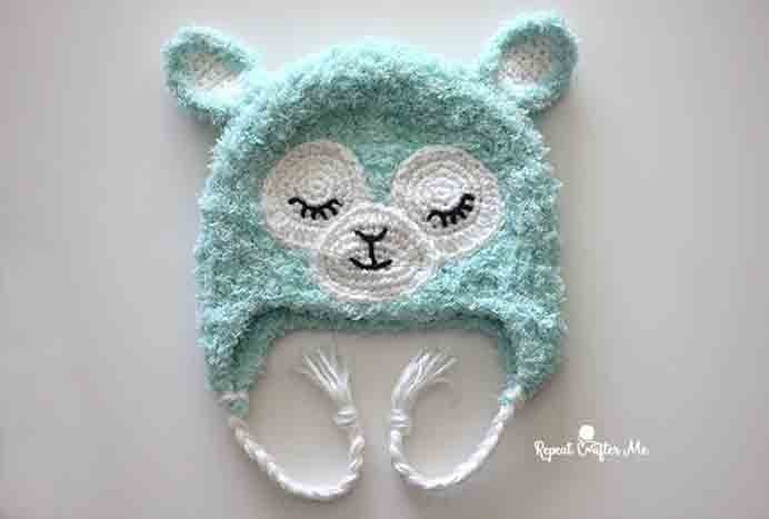Sarah from Repeat Crafter Me has designed a baby hat that is so cute. It's like amigurumi but in hat form. Take a look at Sarah's free Llama baby hat crochet pattern. Please share. Make Mondays more manageable and sign up for our craft inspiration newsletter. Delivered to your inbox - CraftyLikeGranny.com #freecrochetpattern #babyhats #crochet