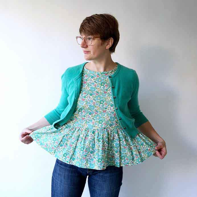 Rae over at Made by Rae has an adorable tank pattern. Using a liberty print she fell in love with, it is a pretty design and can be layered with a cardigan. Rae's sewing pattern can be purchased via her online shop. Please share. Look forward to Mondays with our craft inspiration newsletter. Crafty goodness delivered to your inbox - CraftyLikeGranny.com #sewing #sewingpattern #sew