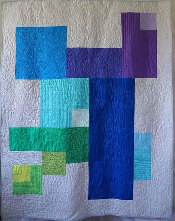 Keeping things simple is what makes this quilt interesting. It goes to show that you don't need to have complicated blocks to make a quilt. Follow Jessica's design process on Quilty Habit. Please share and make Mondays fun, get our craft inspiration delivered to your inbox - CraftyLikeGranny.com #quilting #quiltblock #sewing