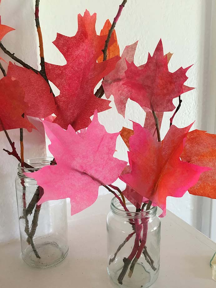 Colorful Fall Leaves. These would look lovely as a centerpiece for a Thanksgiving table. Get the kids involved too and they be super excited to show off their crafty cleverness! Follow Jodi's tutorial on Super Make It. Please share. Sign up to our craft inspiration roundup newsletter and make Mondays more manageable. Fabulous Crafty ideas and projects delivered to your inbox - CraftyLikeGranny.com #thanksgivingcrafts #thanksgivingdecorations #kidscraft