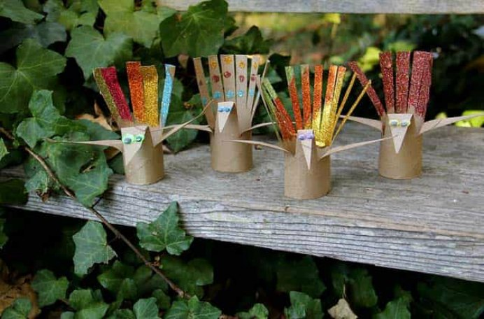 tp-tube-thanksgiving-turkey-craft by A Girl and A Boy Blog. Please share. Join now for creative craft inspiration. The best in craft delivered to your inbox every Monday - CraftyLikeGranny.com #thanksgivingcrafts #kidscraft #papercraft