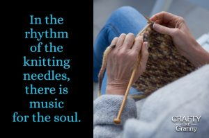 The days and weeks ahead may get just a little hectic with celebrations. Taking sneaky moments of knitting helps keep me a little calmer :) The rhythm of the needles is indeed like soft music playing. Hoping that whilst you craft in the coming weeks, music plays to you too. Here's what we've found for you this week to inspire your crafting ventures. Please share and make Mondays fun, get our craft inspiration delivered to your inbox - CraftyLikeGranny.com #knitting #knittingpatterns #knittinginspiration