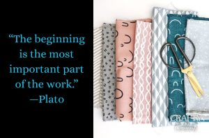 """New crafts to learn... """"The beginning is the most important part of the work."""" —Plato All crafting projects have a beginning. It is in those initial stages where the excitement is. Choosing the project and searching for the required materials. Gathering everything together. Then finally starting. Whether it be the first stitch cast on, the threading of a needle, the folding of paper. (Whatever your chosen project requires at Step one) May you also find the thrill in beginnings.Please share. You will always look forward to Mondays, with our craft inspiration roundups -CraftyLikeGranny.com #craft"""