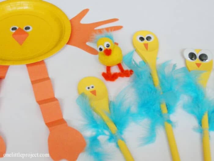 3 Easy and Festive Easter Crafts for Kids by One Little Project