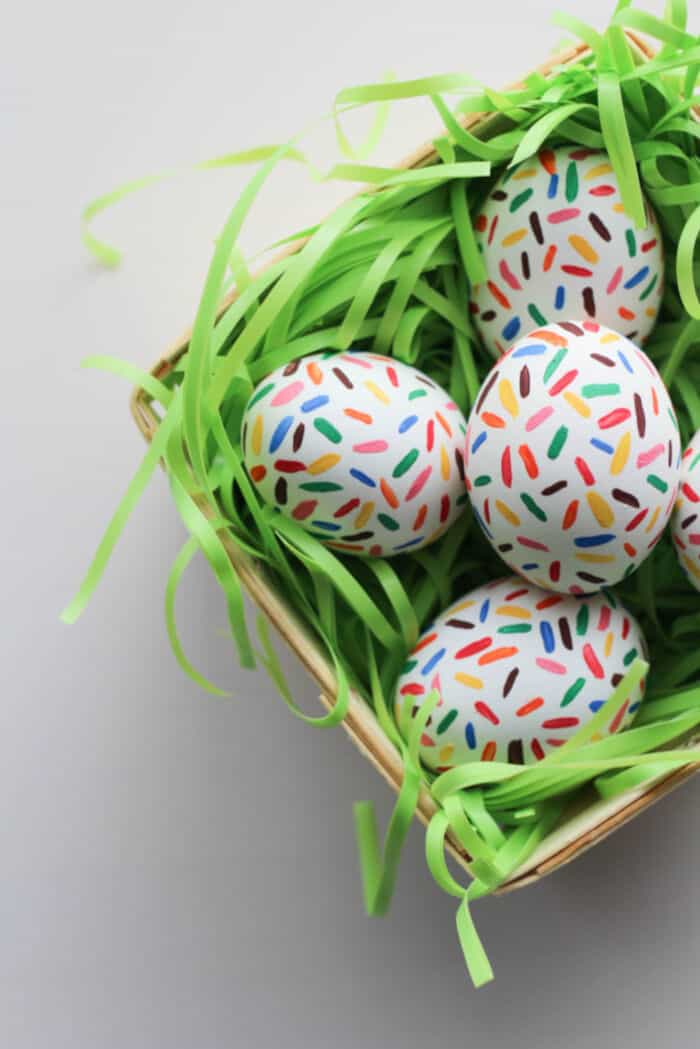DIY Sprinkle Easter Eggs by Lets Mingle