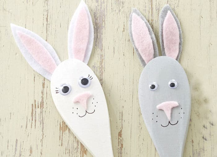 Easter Bunny Spoon Puppets by Hobby Craft
