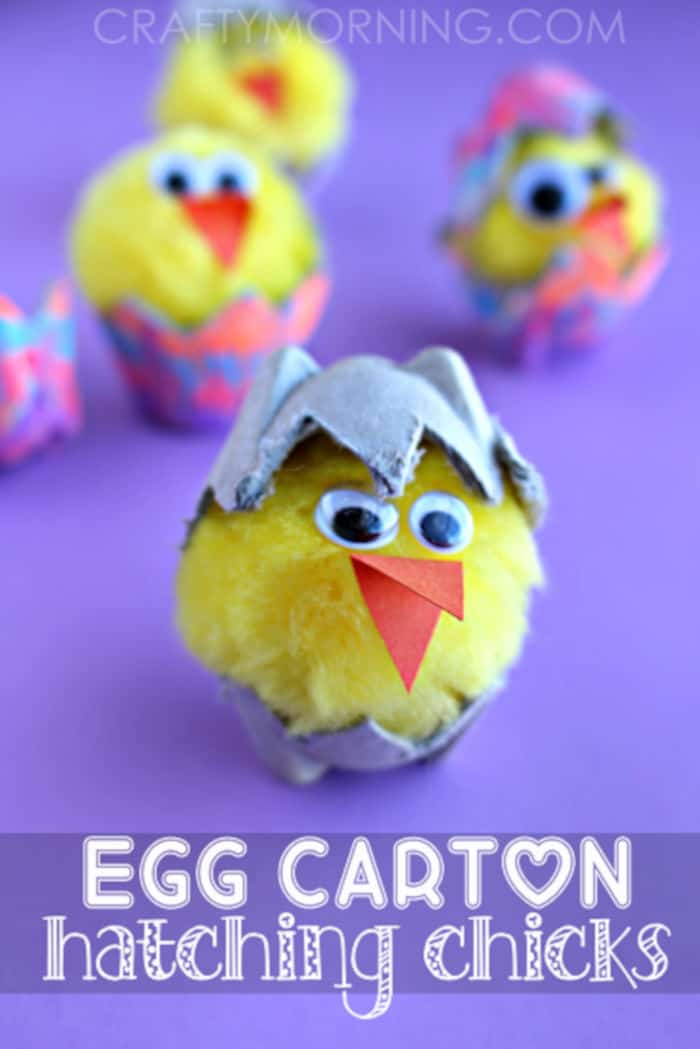 Egg Carton Hatching Chicks by Crafty Morning