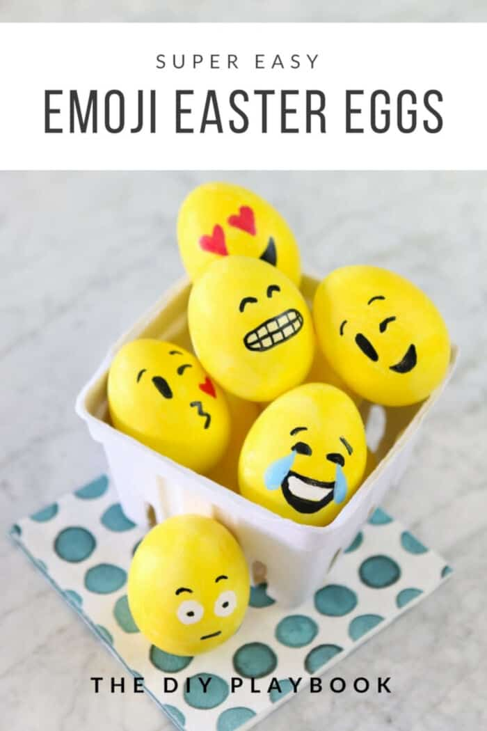 Emoji Easter Eggs by The DIY Playbook