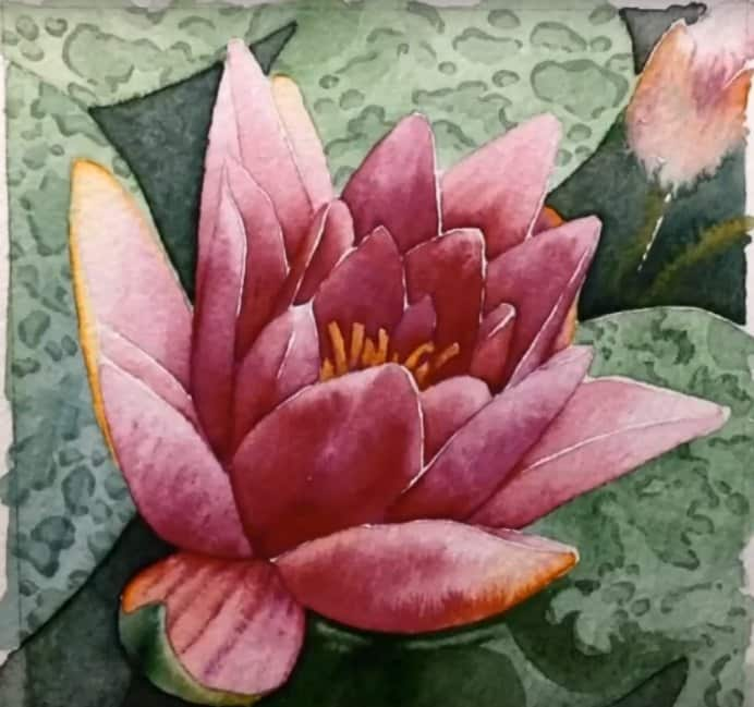Gee Massman Water Lily with Winsor & Newton Watercolor Markers