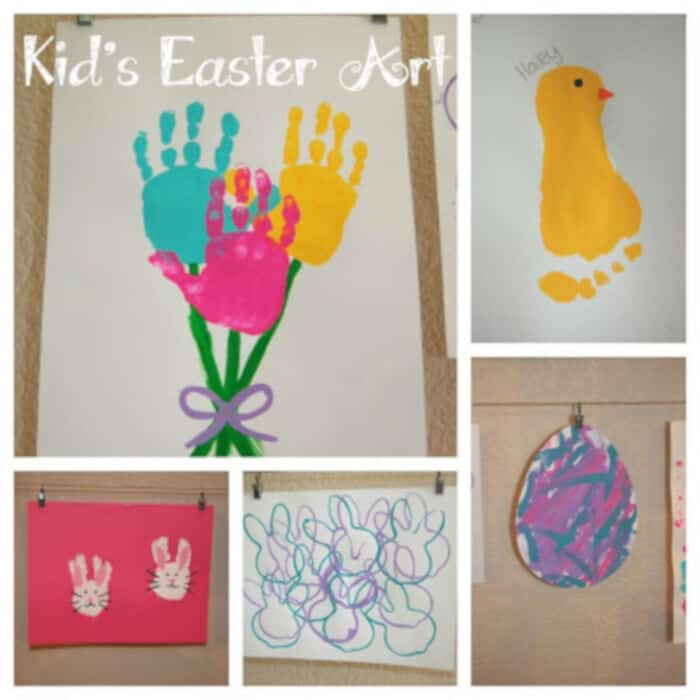 Kids Easter Art by Pinkie For Pink