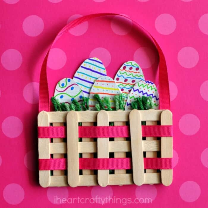 Mini Easter Basket Craft by I Heart Crafty Things