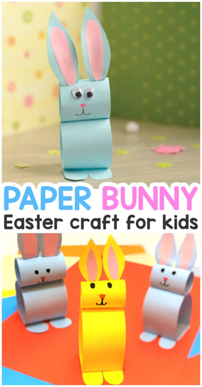 Paper Bunny Craft by Easy Peasy and Fun