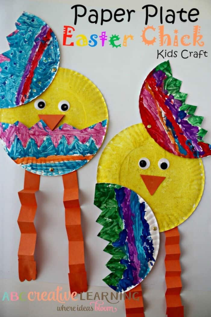 Paper Plate Easter Chick by Simply Today Life