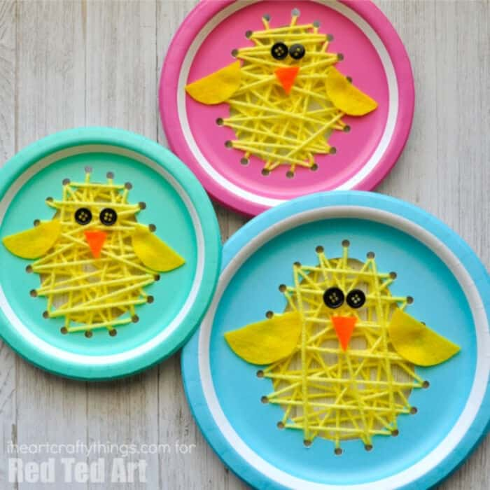 Paper Plate Easter Sewing Craft by Red Ted Art