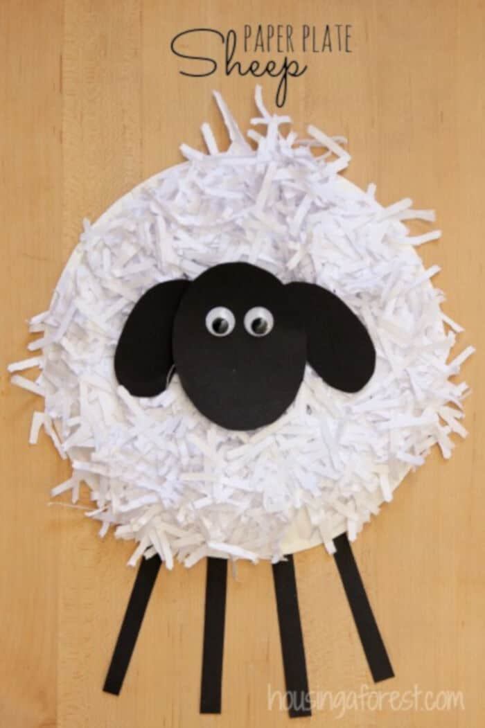 Paper Plate Sheep Craft by Housing A Forest