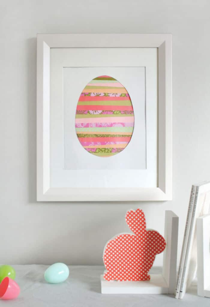 Paper Strip Easter Egg Art by Minted