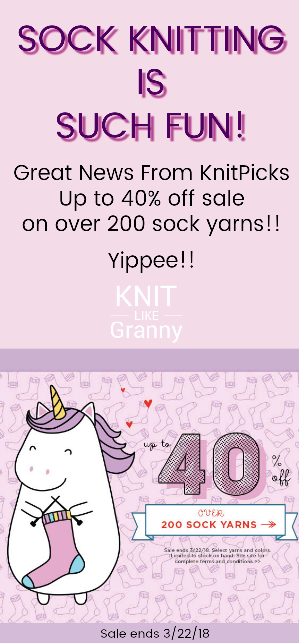 Sock Yarn Sale at Knitpicks Up to 40 percent off