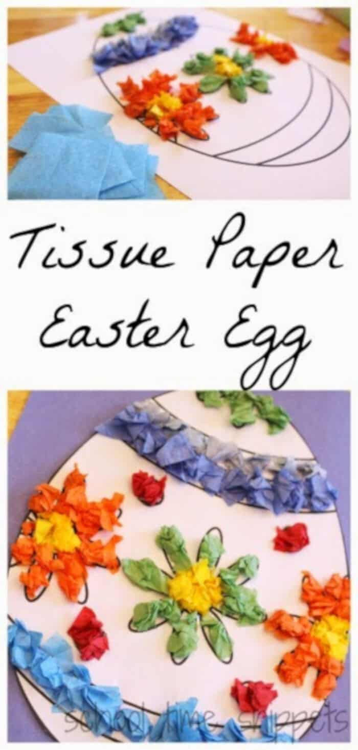 Tissue Paper Easter Egg by School Time Snippets