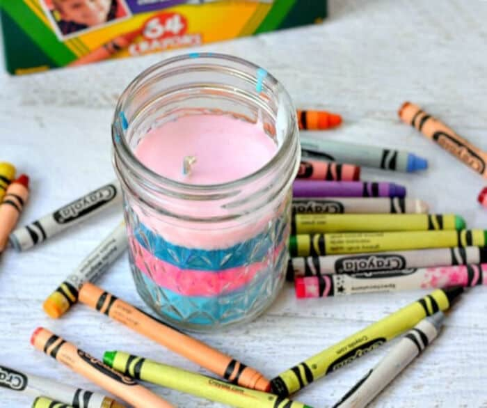 DIY Crayon Candles by The Pinning Mama