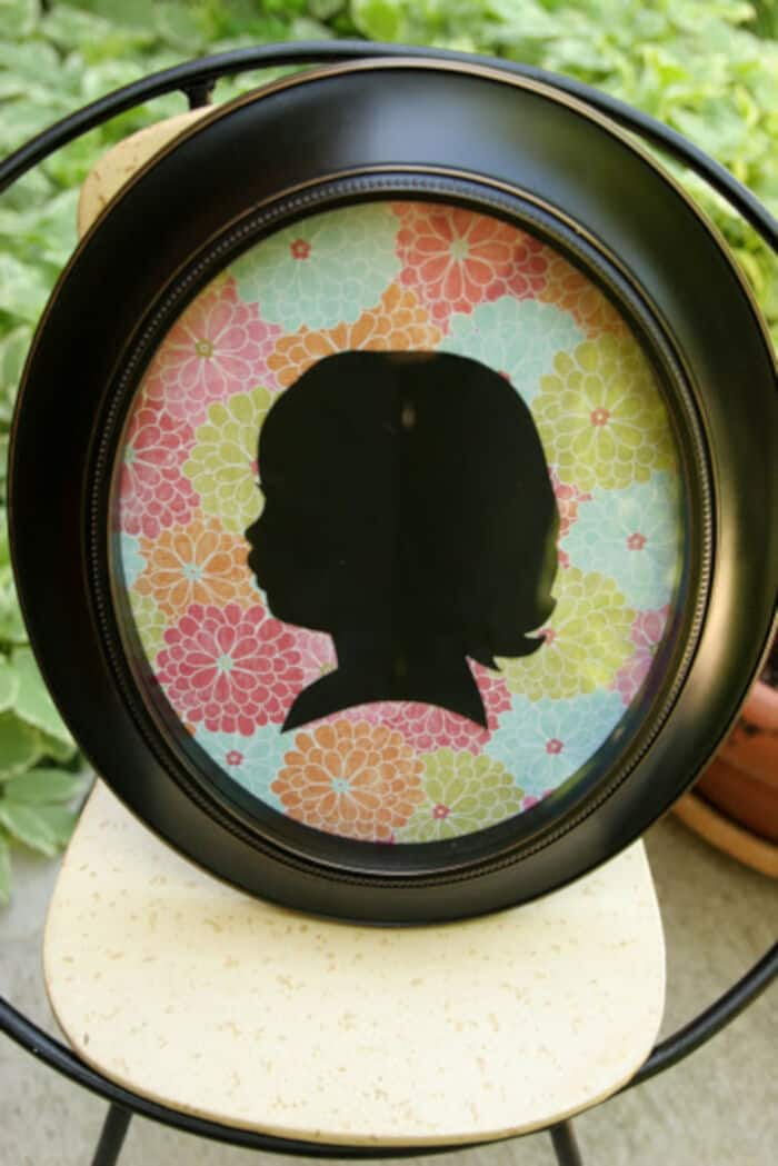 DIY Easy Silhouette by Homemade Ginger