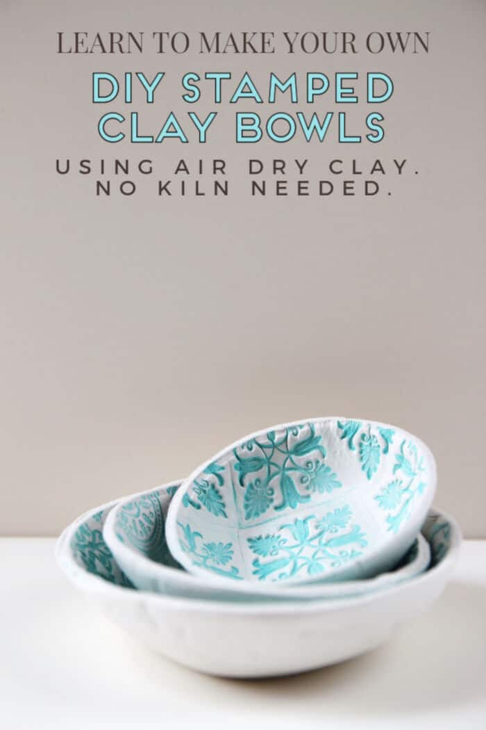 DIY Stamped Clay Bowls by Gathering Beauty