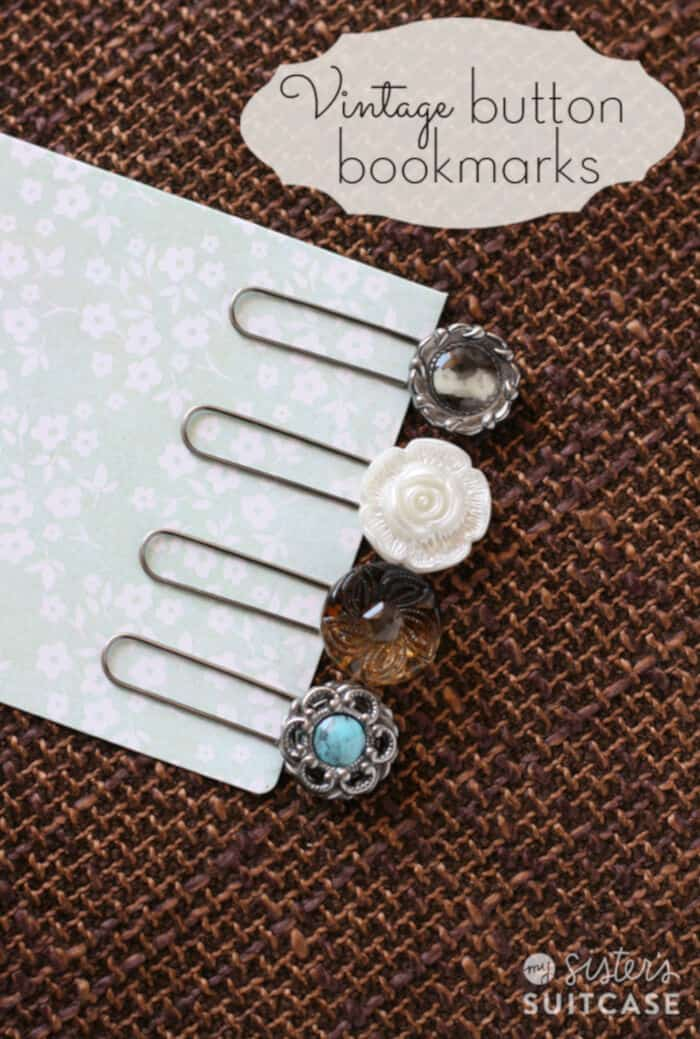 DIY Vintage Button Bookmarks by My Sisters Suitcase