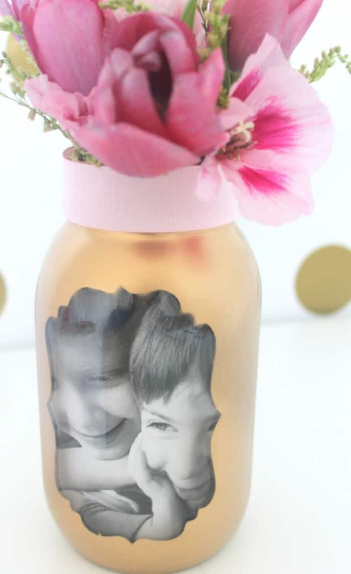 Easy Mothers Day Photo Vase Craft by Catch my Party