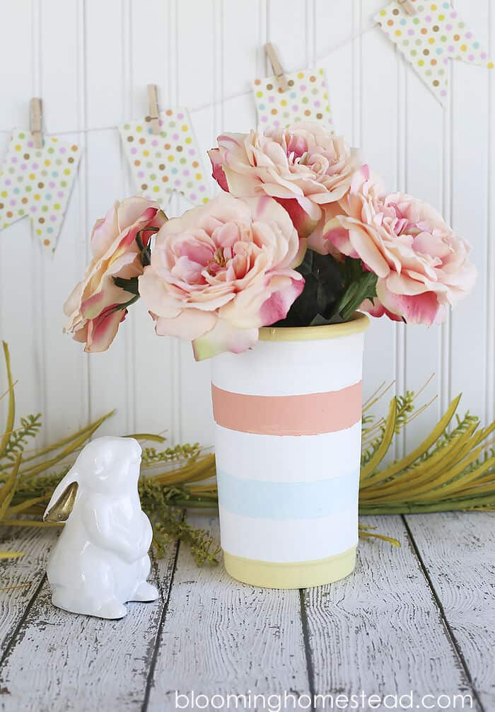 Easy Striped Vase by Blooming Homestead