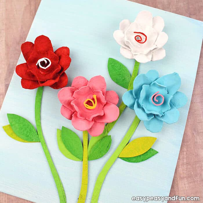 Egg Carton Flowers by Easy Peasy and Fun