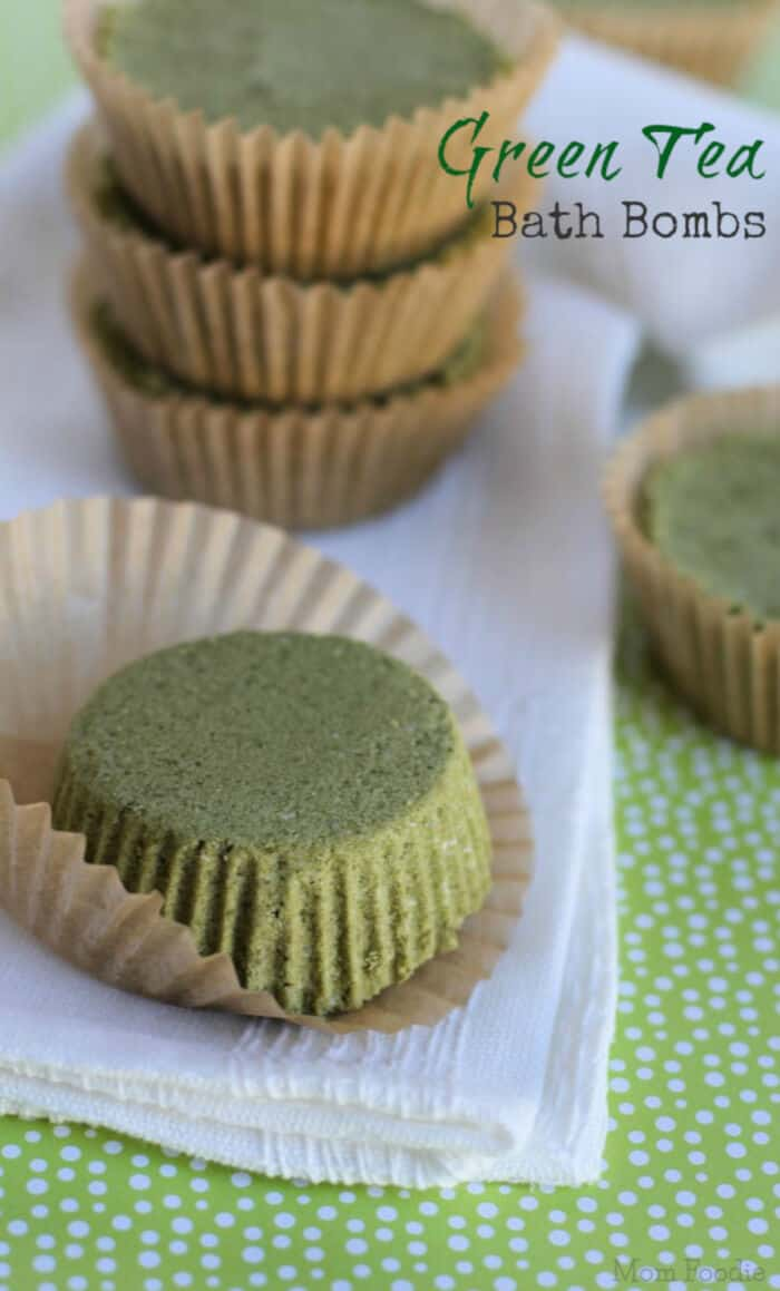Green Tea Bath Bombs by Mom Foodie