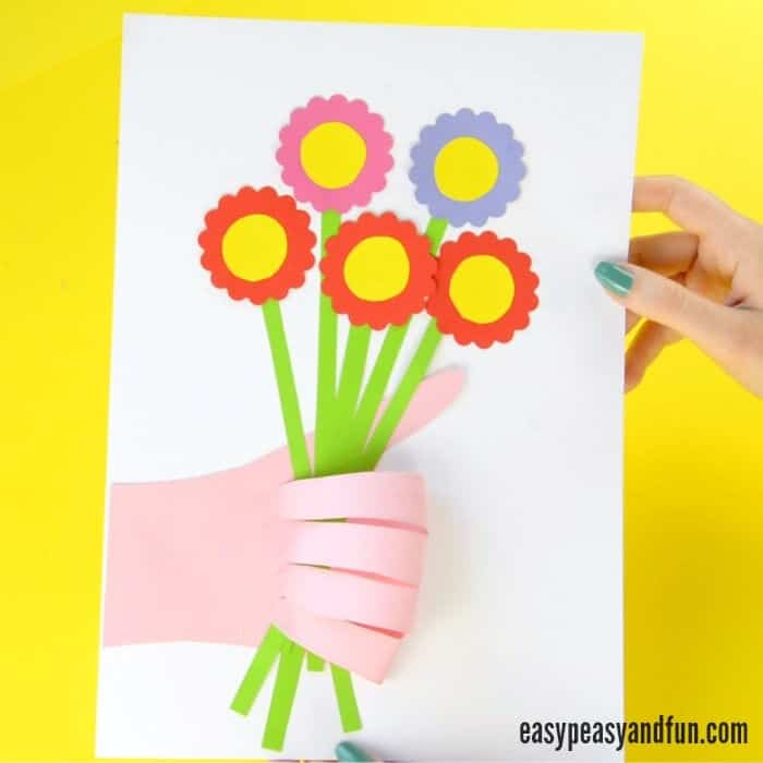 Handprint Flower Bouquet Craft by Easy Peasy and Fun