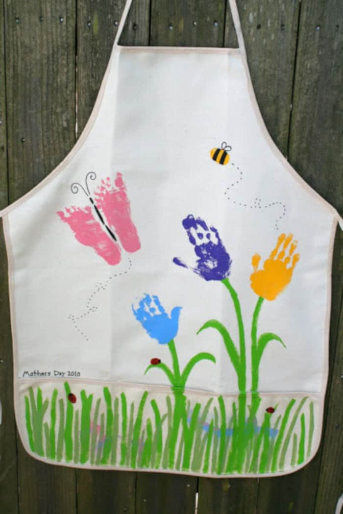 Mothers Day Handprint (and such) Apron by Little Page Turners