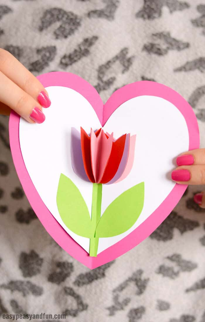 Tulip in a Heart Card by Easy Peasy and Fun
