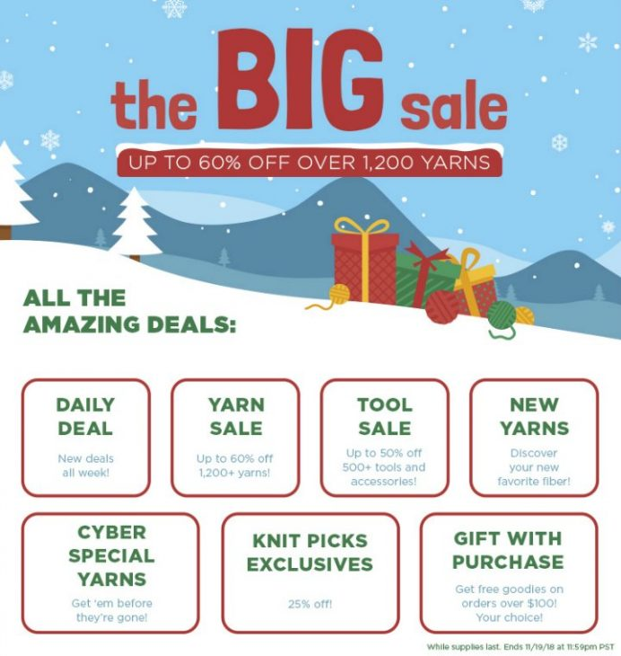 Knit Picks Big Sale Nov 2018