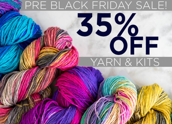 Lion Brand 35% Off Yarn and Kits Pre Black Friday Sale