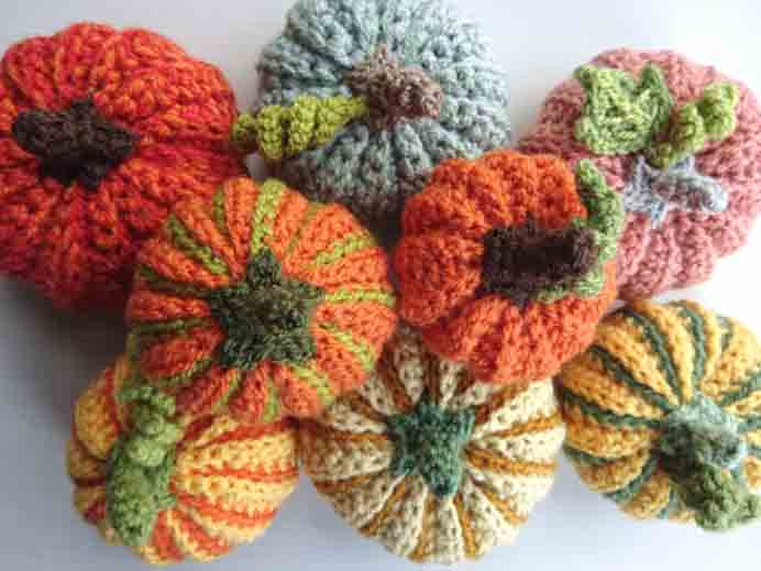 Crocheted Pumpkin Harvest. Pumpkins come in all different shades and colors. Lucy from Attic 24 shares her lovely crocheted striped pumpkin and where she found the inspiration. Please share and make Mondays fun, get our craft inspiration delivered to your inbox - CraftyLikeGranny.com #pumpkincrafts #crochet #crochetpattern