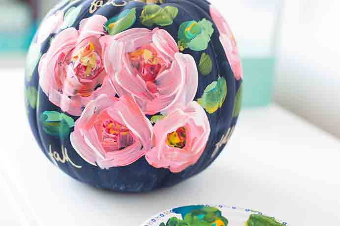 Take some paint and inspiration and craft your pumpkin in whatever way you choose. Lucy from Craft Berry Bush chose a floral design and it came up a treat! Take a look at her tutorial to create your own. Please share and make Mondays fun, get our craft inspiration delivered to your inbox - CraftyLikeGranny.com #pumpkincrafts #DIY #Craft
