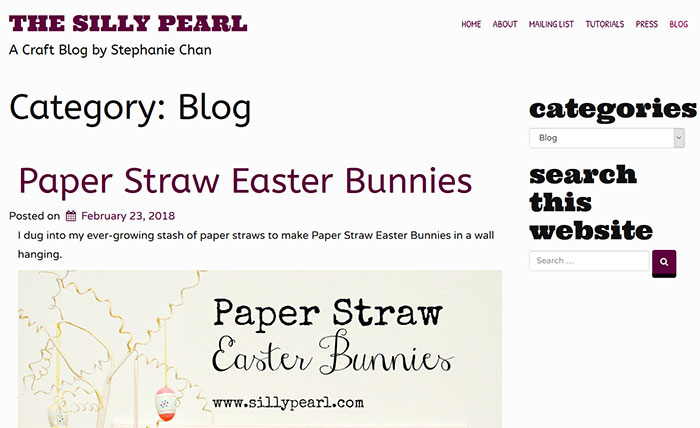 The-Silly-Pearl Craft Blog