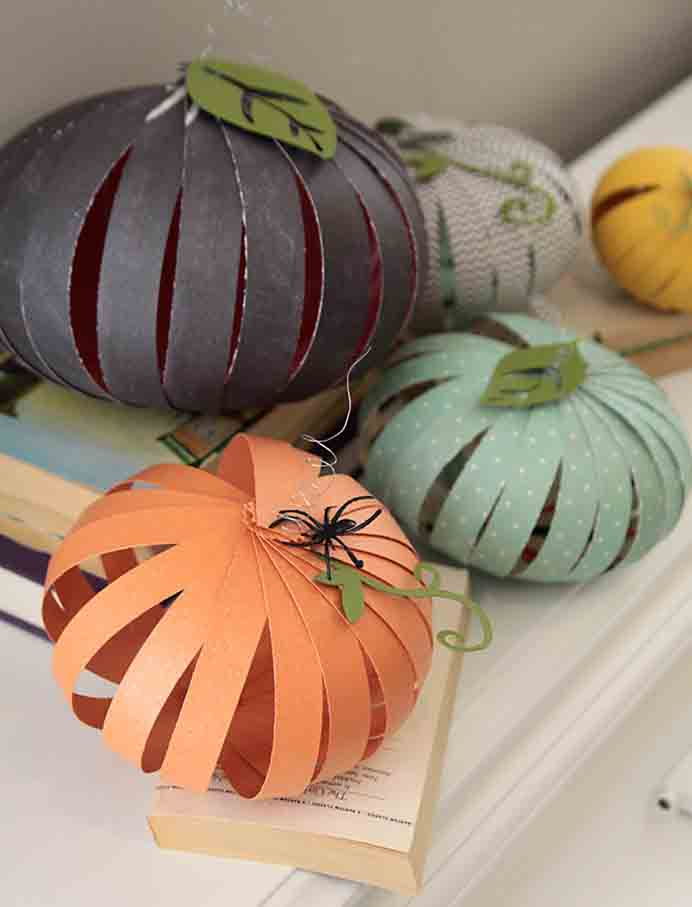 Family Craft Time. With a wish to get her kids involved in some craft, Autumn found a way to use paper to create these gorgeous pumpkins. Older kids would be able to achieve the project unassisted but little ones will need some help. Autumn's tutorial is easy to follow and the results look great! Please share. The best in craft delivered to your inbox every Monday - CraftyLikeGranny.com #pumpkincrafts #kidscraft #fallcraft