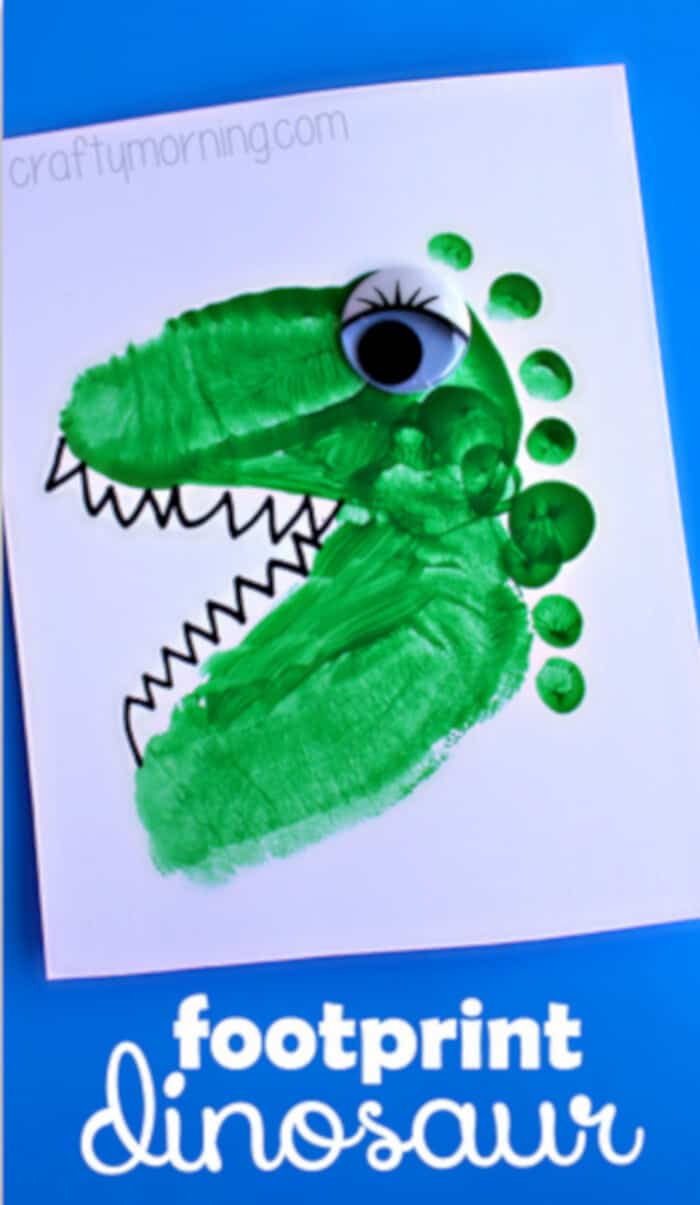 Alligator and Dinosaur Footprint Craft by Crafty Morning