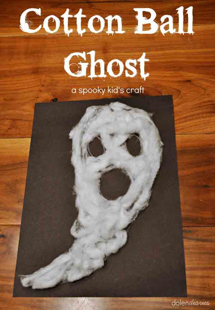 Simple to do and with a few materials, kids will love creating these cotton ball ghosts. Kim from Inspiration Made Simple gives you step by step instructions to help your kids make some. Please share. Join now for creative craft inspiration. The best in craft delivered to your inbox every Monday - CraftyLikeGranny.com #halloweencraftforkids #halloweencrafts #kidscraft