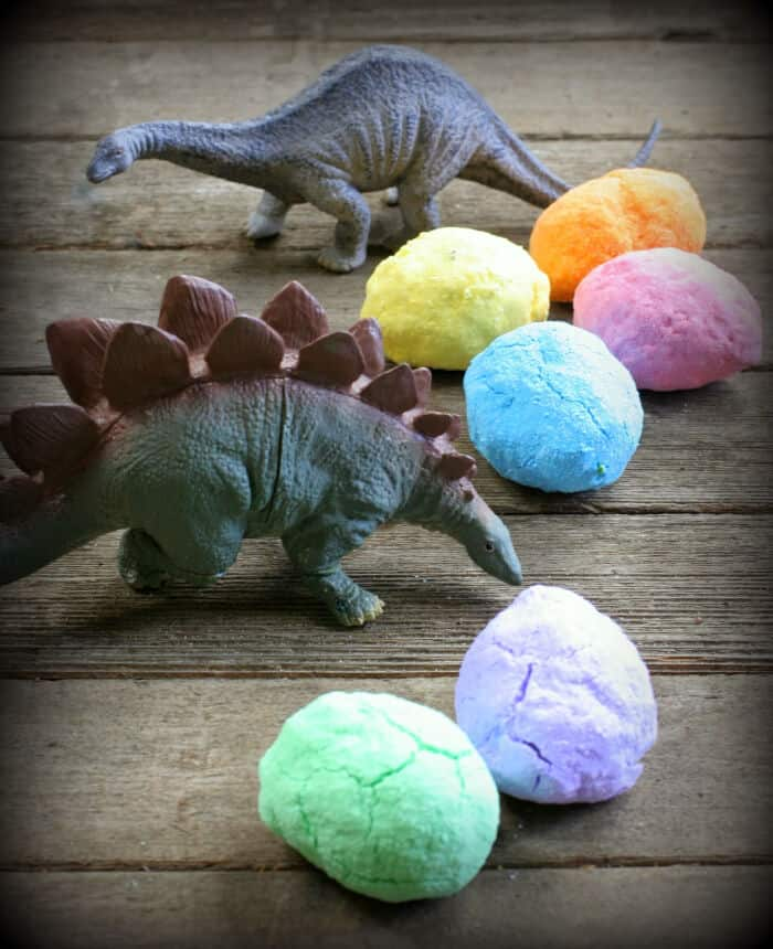 DIY Bath Bombs Magic Hatching Dinosaur Eggs by Fun at Home with Kids