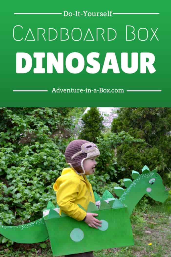 DIY Cardboard Box Dinosaur by Adventure In A Box
