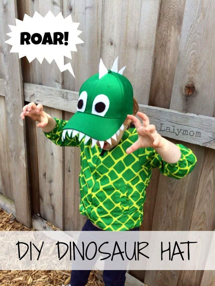 DIY Dinosaur Hat by Laly Mom
