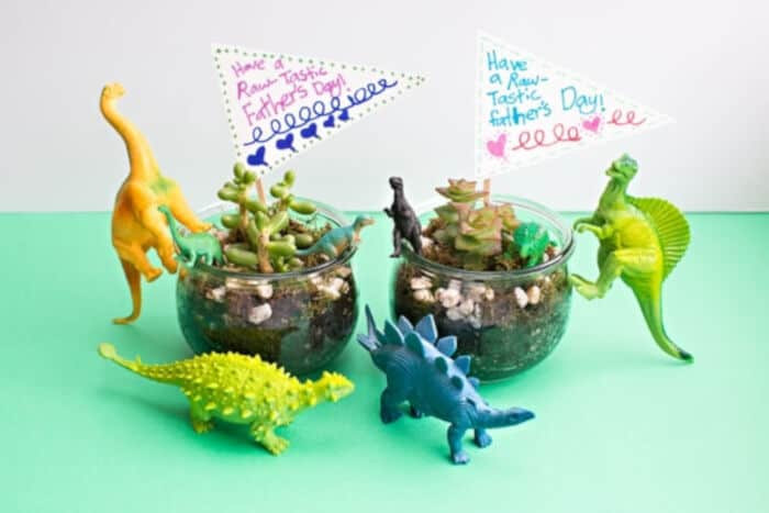 DIY Dinosaur Terrariums by Hello, Wonderful