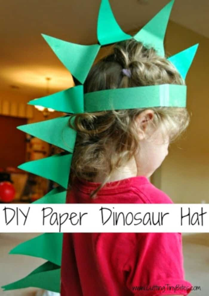 DIY Paper Dinosaur Hat by What Can We Do With Paper And Glue