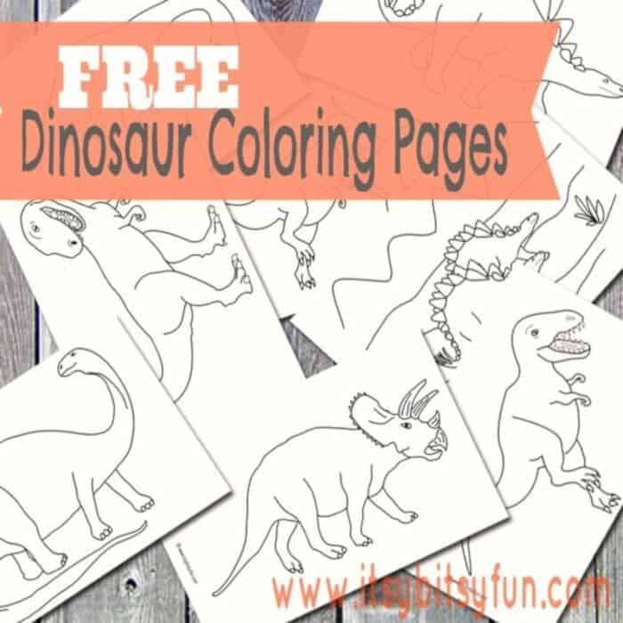 Dinosaur Coloring Pages by Itsy Bitsy Fun