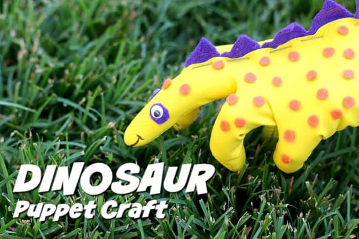 Dinosaur Craft Puppet For Kids by Eze Breezy