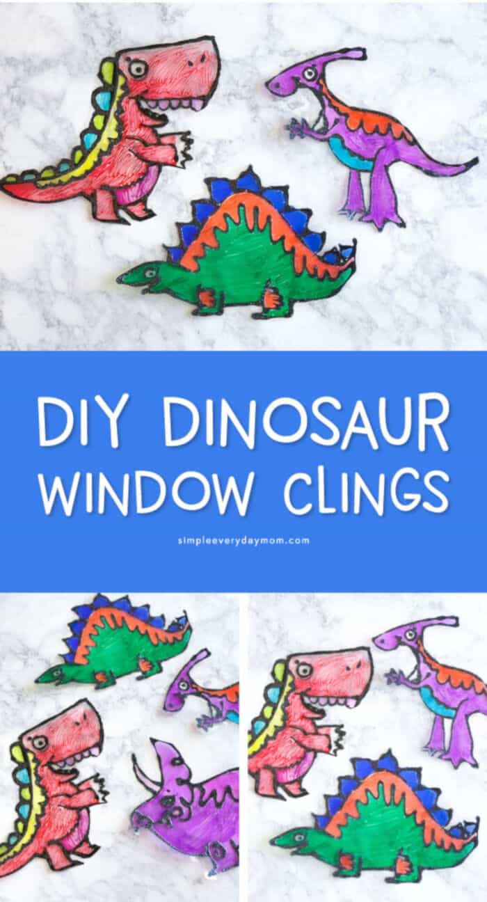 Dinosaur DIY Suncatchers by Simple Everyday Mom