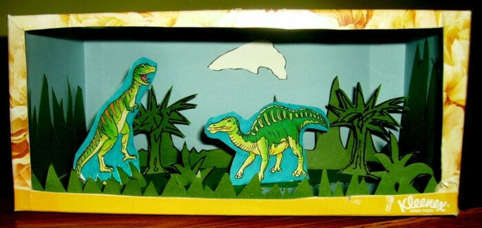 Dinosaur Diorama by Kids and Glitter
